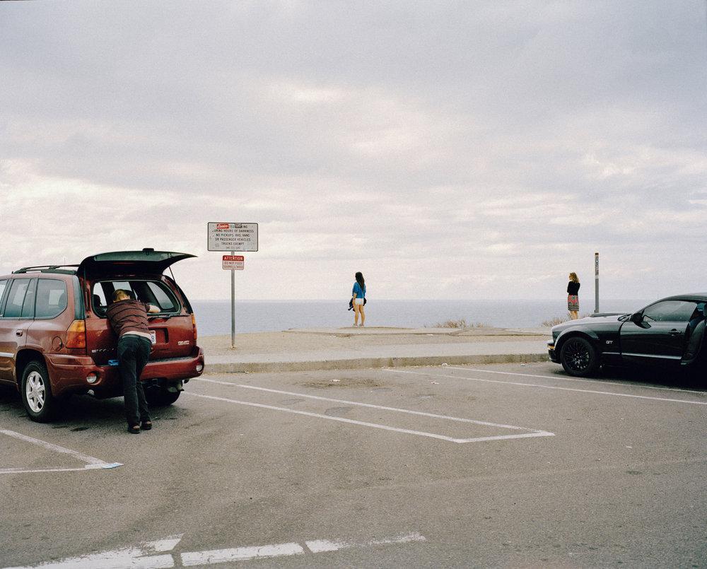 Las Flores viewpoint along Route I-5 of Pacific Ocean. California, USA, 2015.