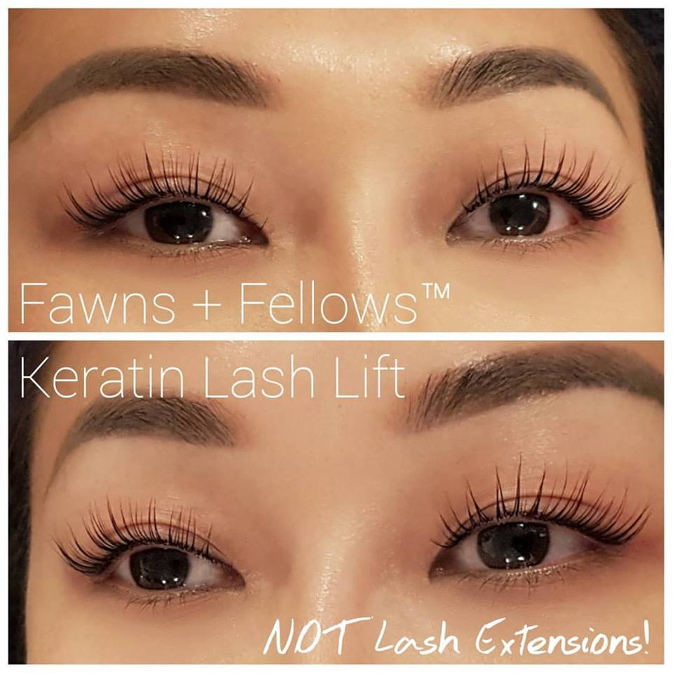 Real Results on a Fawns & Fellows™ Client - These are REAL client results using the EyEnvy™ Lash Conditioner combined with a Fawns & Fellows™ Keratin Lash Lift treatment to show off the increased length and volume it provides!