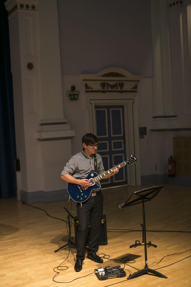 Solo performance at Leeds University Music School, June 11th 2015.