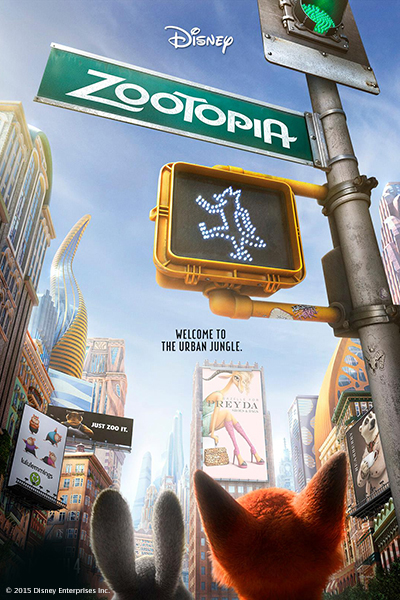 Outdoor screening of Disney's Zootopia at 7pm