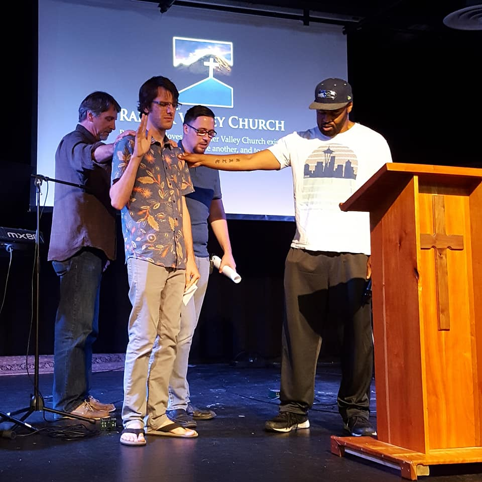 Rainier Valley Church prayed for John Keay at his send-off ceremony this Sunday, August 5th 2018.