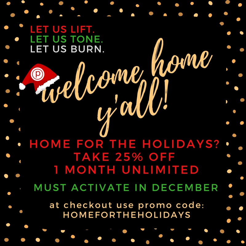 Home for the Holidays - 25% off one month unlimited - LIVE now, must activate in December