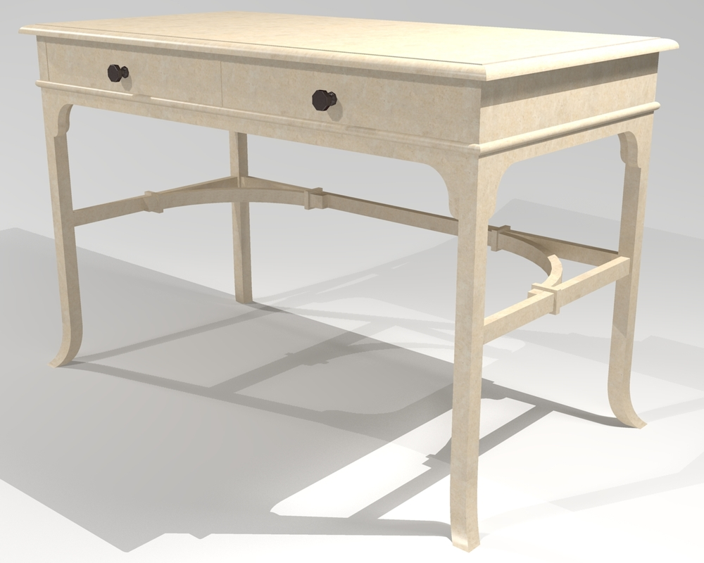 "French Country Writing Desk  - 46"" x 24"".  Constructed of soft maple."