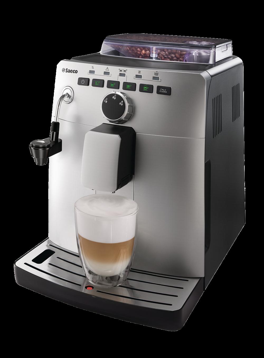 Vienna Saeco  Extração cremosa para seu café, graças aos discos de cerâmica. Bico para vapor ou água quente, facilitador para aerar o leite ou água quente para suas infusões. Gaveta com parada automática, para descarte de borras. Programação do volume de água para o café, diretamente em suas teclas. Seletora frontal para definir a quantidade de pó para o seu espresso.