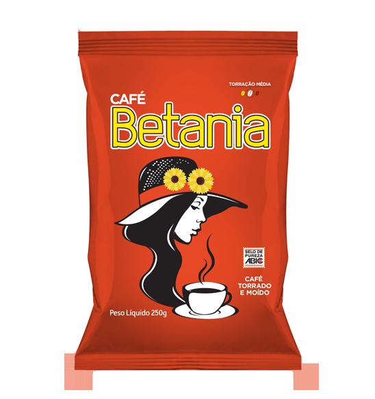 CaféBetania  O Café Betania é produzido com os mais modernos processos industriais, com uma combinação de grãos selecionados de alta qualidade. A torrefação média confere ao Café Betania sabor e aroma marcantes. Apreciado por toda família. Um ótimo café. Tradição saborosa sempre presente em nossa mesa.   Peso Líquido: 250g Código de barra: 7896045100057