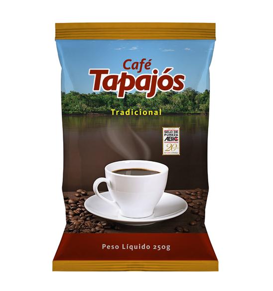 CaféTapajós  O Café Tapajós é produzido com os mais modernos processos industriais e uma combinação de grãos selecionados de alta qualidade. A torrefação média confere ao Café Tapajós sabor e aroma marcantes. Um ótimo café, para ser apreciado por toda família. Disponível no Amazonas e na região de Santarém, PA.   Peso Líquido: 250g   Código de barra: 7896045100248