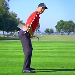 Correct posture will help with your swing mechanics.