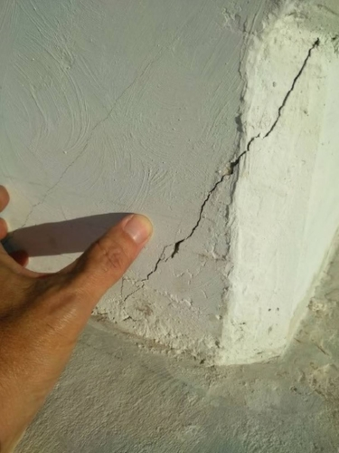 "Cracks such as the one pictured above may have been a sign of ""imminent failure"" of the Florida International University bridge that collapsed March 15, claiming six lives. Engineers had discovered the cracks days before the bridge was lifted into place.Florida International University"