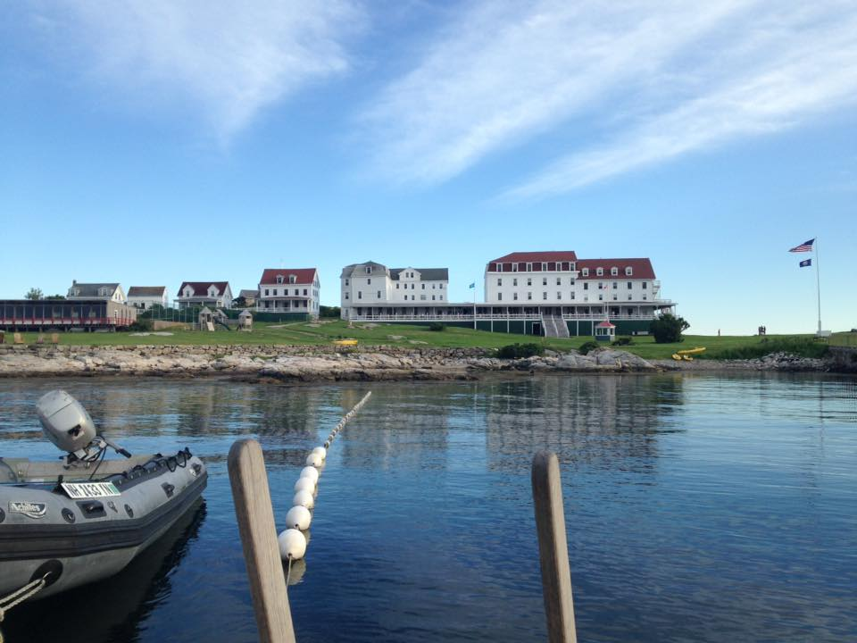 The Oceanic Hotel and surrounding buildings, Star Island NH