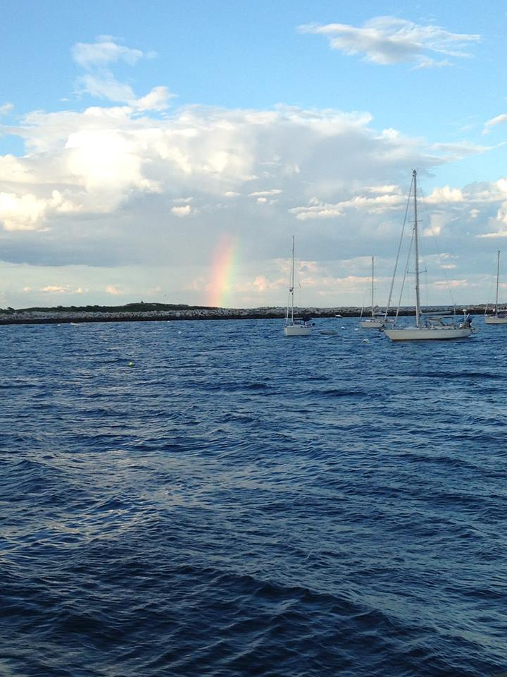 Rainbow over Smuttynose Island, Gosport Harbor NH