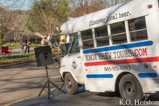 Knox Brew tours provided a DJ at Southgate and Cherokee