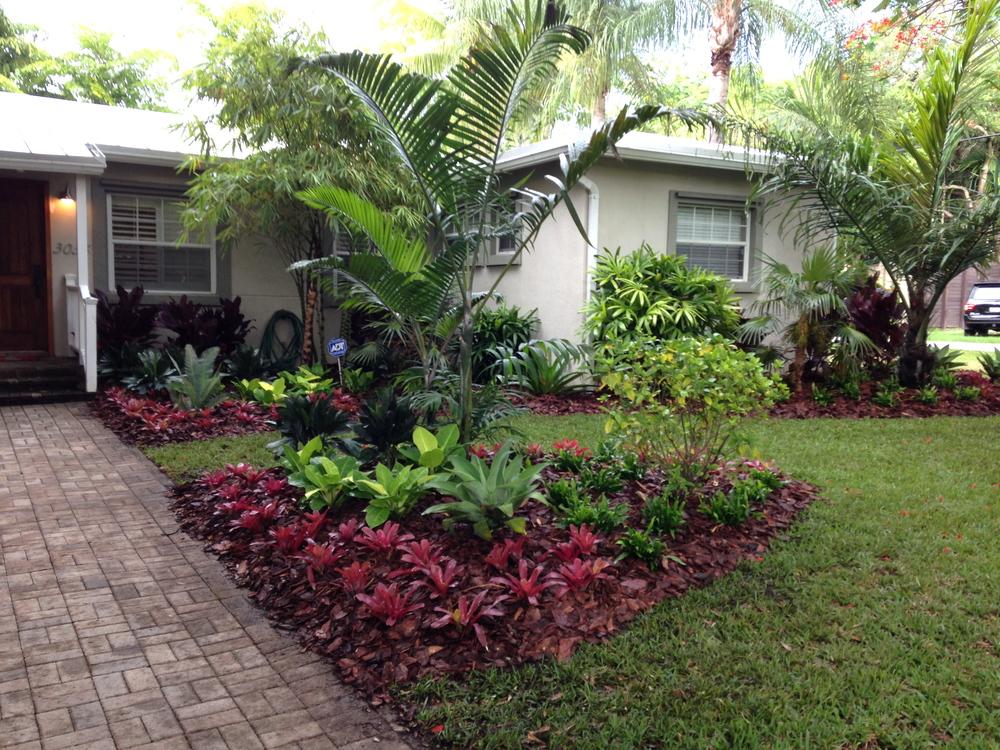 Back 2 nature landscape design for Low maintenance tropical garden