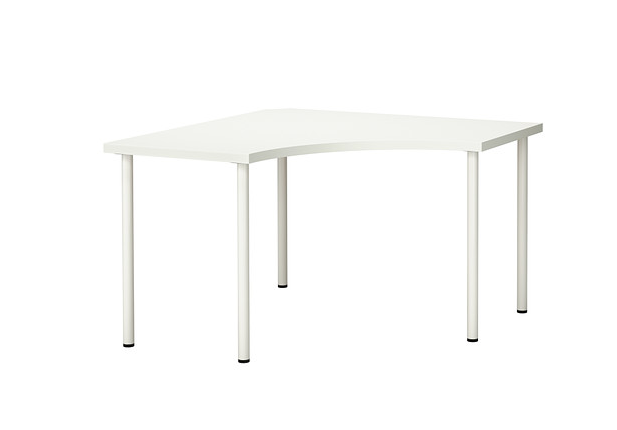 plain white  IKEA  desk : $70. i will go cheaper if i can find something once at the store.