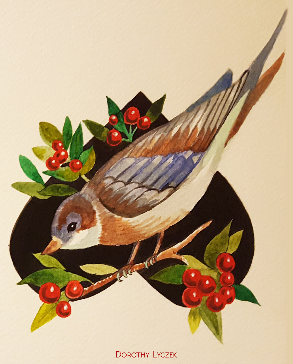 Sparrow and Choke Berries