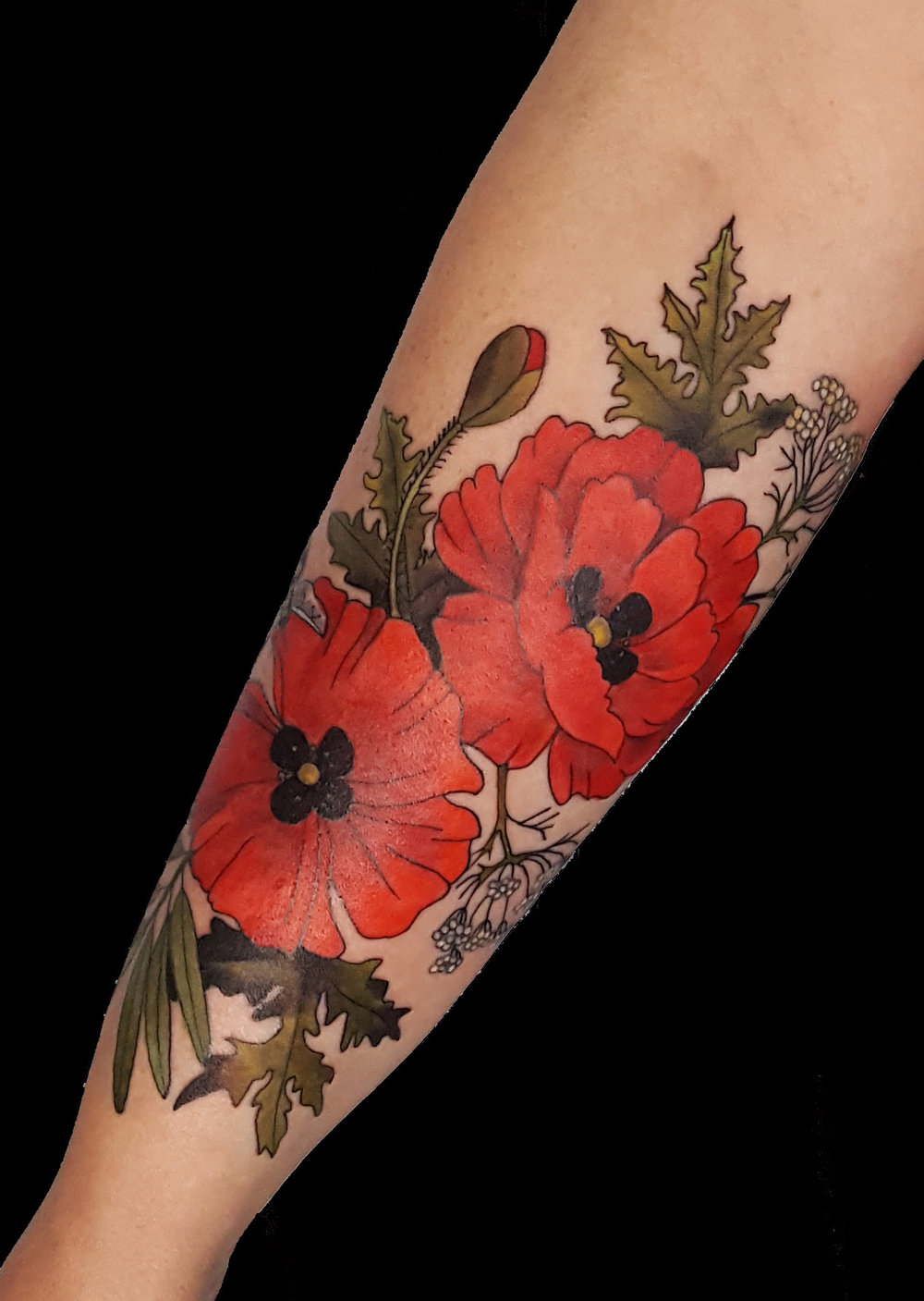 Poppies, Sage, and Queen Anne's Lace
