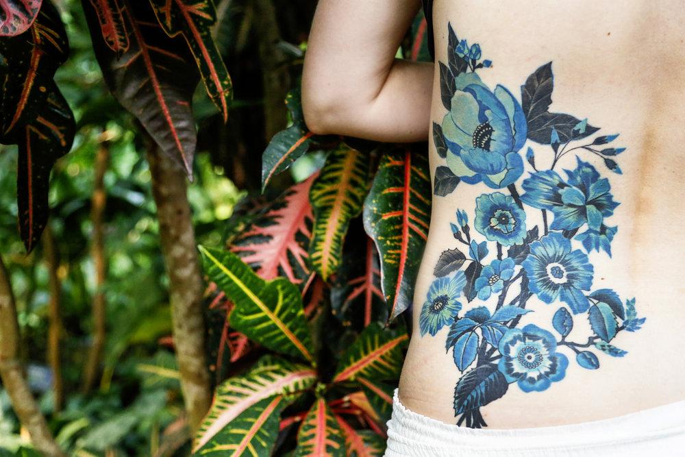 Blue Victorian Floral