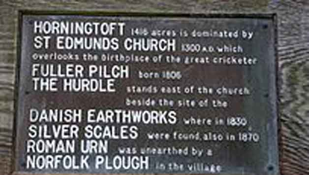 Fuller Pilch is remembered at Horningtoft. Photo Courtesy: Wikimedia Commons