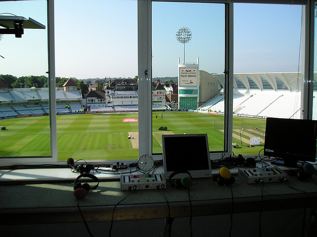 The Trent Bridge Commentator Box