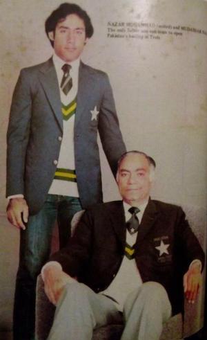 Nazar Mohammad with son Mudassar