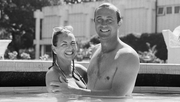 Phil and Frances Edmonds, in 1985. The couple has since been divorced © Getty Images