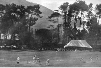 Jack Hobbs batting at Cape Town during the 1909-10 series