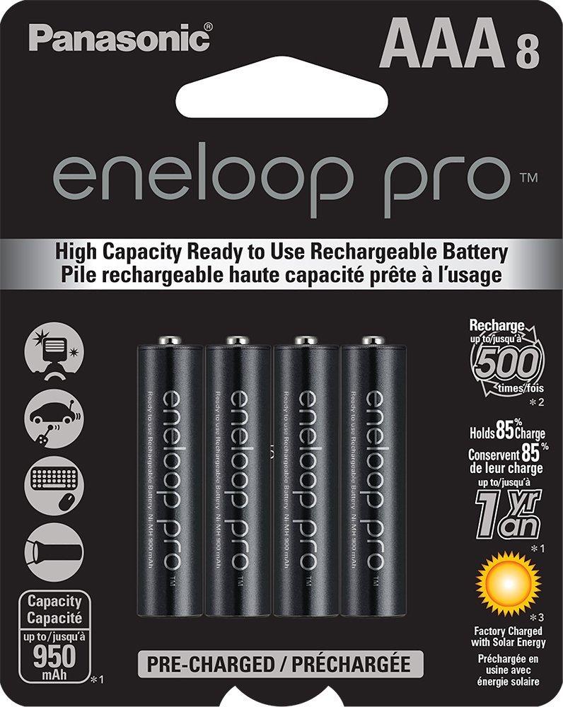 Panasonic - Eneloop Pro AAA Batteries (x8)