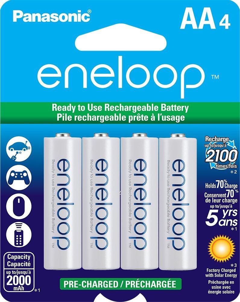 Panasonic - Eneloop AABatteries (x4)