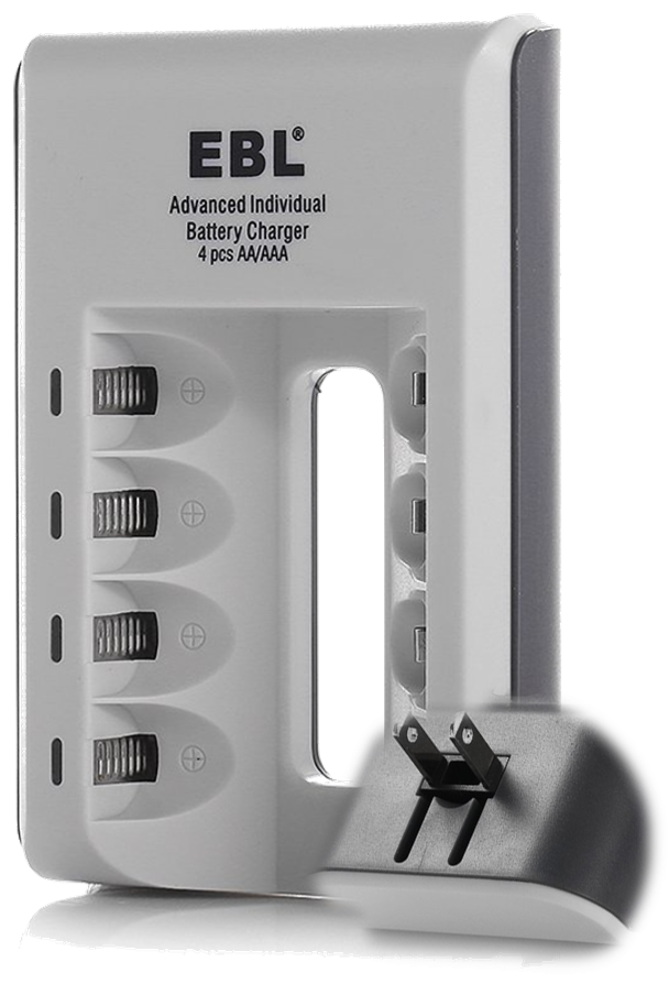 EBL - Charger for AA/AAA Rechargeable Batteries