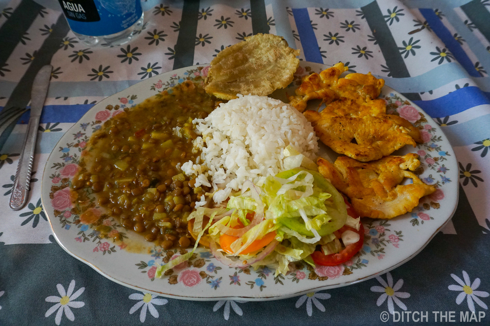 Typical Colombian Meal