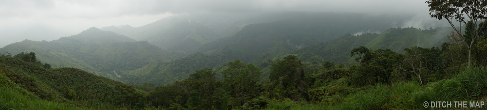 Panoramic of Colombian Jungle