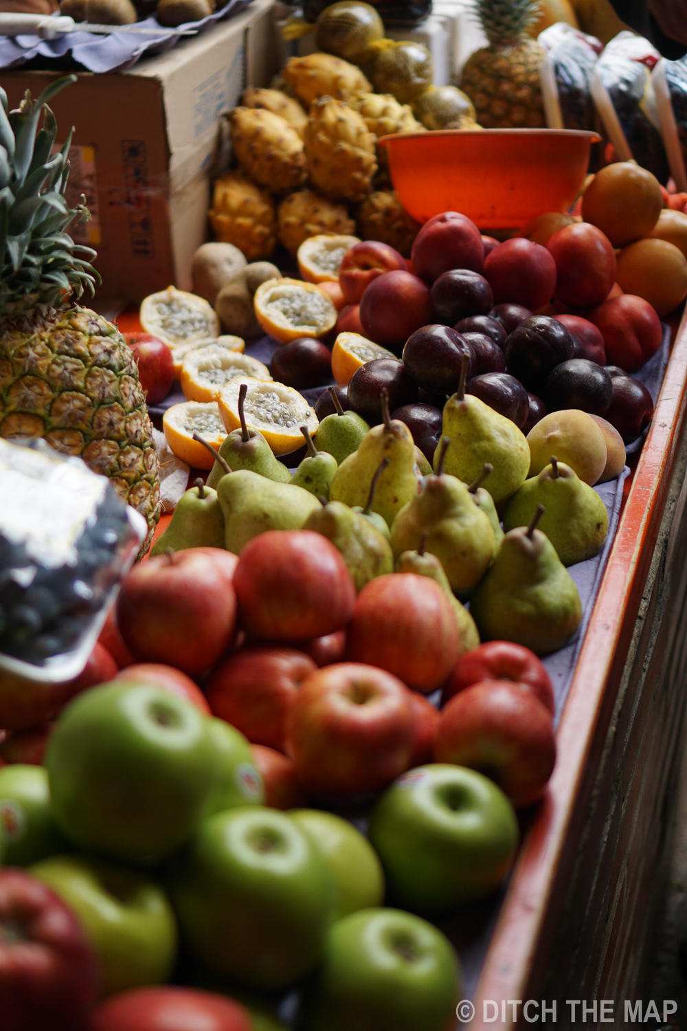 Fruit at a market in Bogota, Colombia