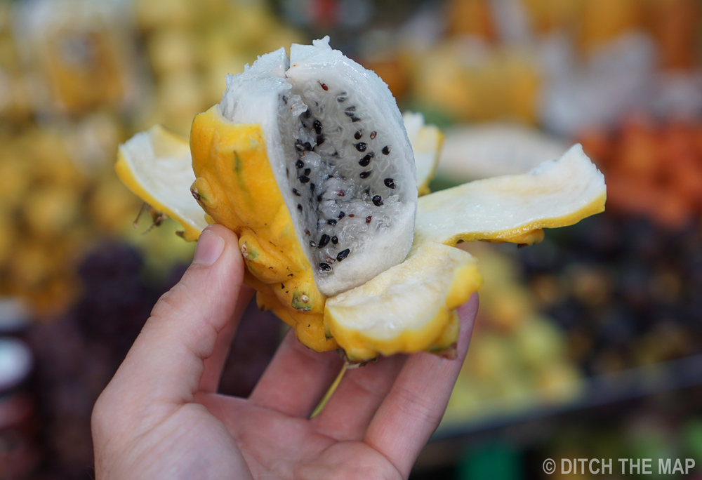 A Dragon Fruit in Bogota, Colombia