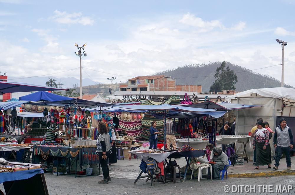 Otavalo Market in Ecuador