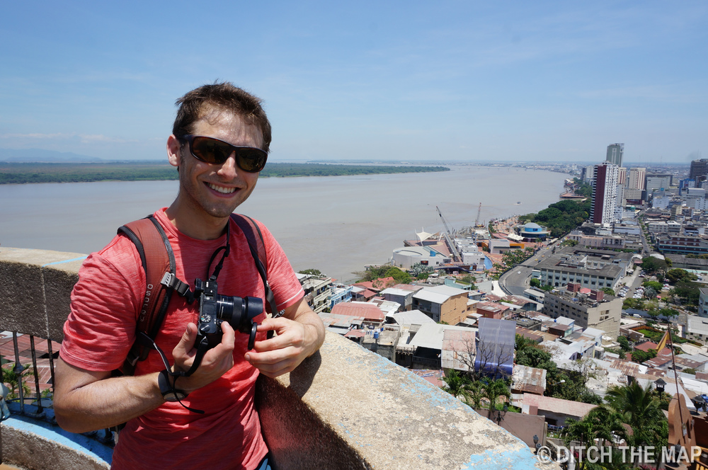 Looking out over the city of Guayaquil, Ecuador