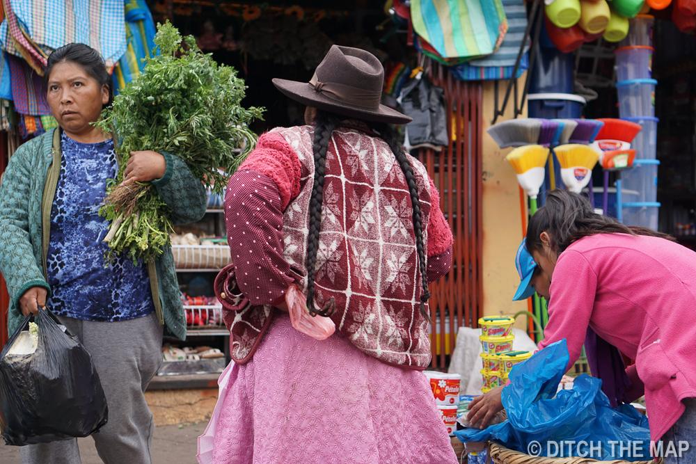 Just outside San Pedro Market in Cusco, Peru