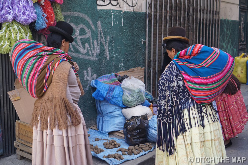 Indian Women in La Paz, Bolivia