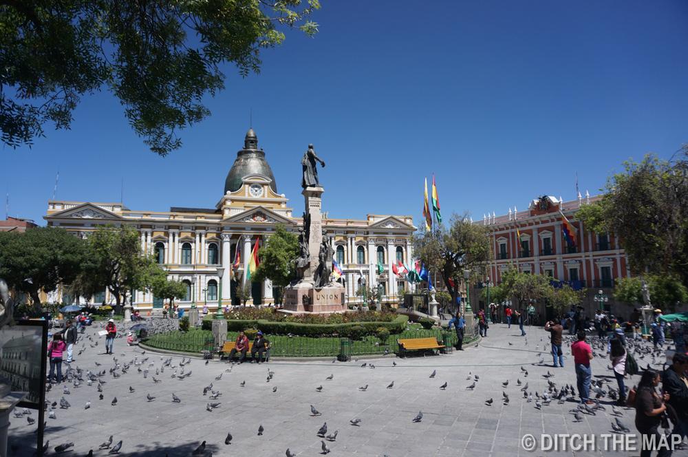 A park in La Paz, Bolivia