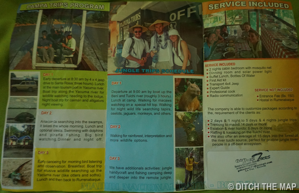 Brochure for Pampas and Jungle Tour with Fluvial Tours