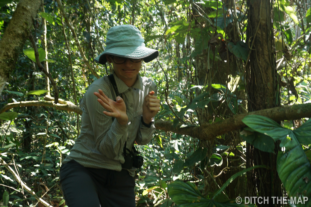 Sylvie feeling 'nervous' about all the critters all around her in the Amazonian Jungle, Bolivia