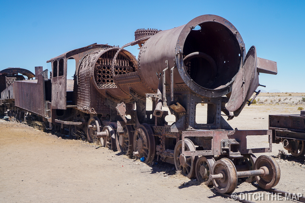 The Train Graveyard in Salar de Uyuni, Bolivia