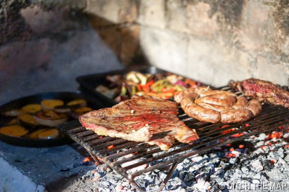 We enjoy our first Asado in Tupungato, Argentina