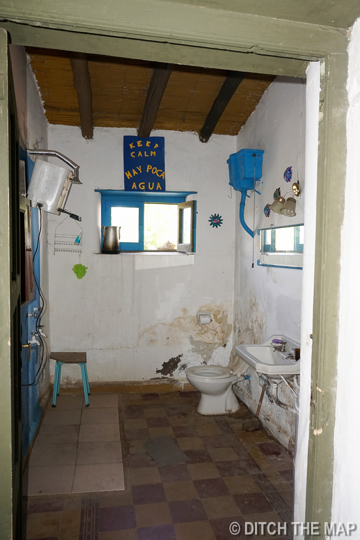 Our bathroom in our farmhouse in Tupungato, Argentina