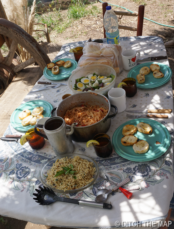 The lunch I made for the volunteers the first day in Tupungato, Argentina