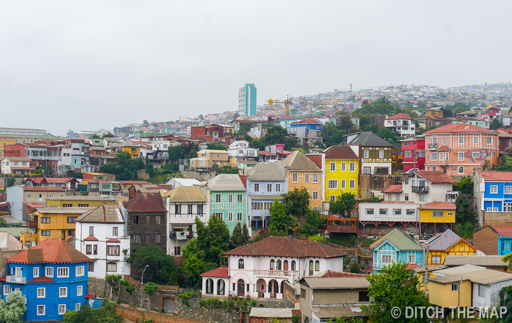 Cityscape of Valparaiso, Chile