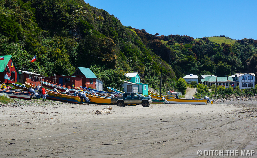 A small beach on the island of Chiloe, Chile