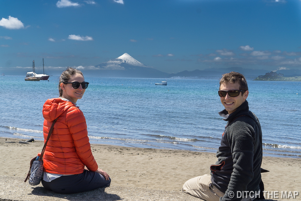 Enjoying the scenery in Puerto Varas, Chile