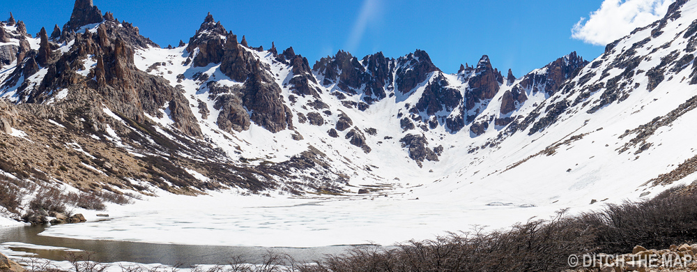 THe glacier Lake on top of Cerro Catedral (at Refugio Frey), just outside Bariloche, Argentina
