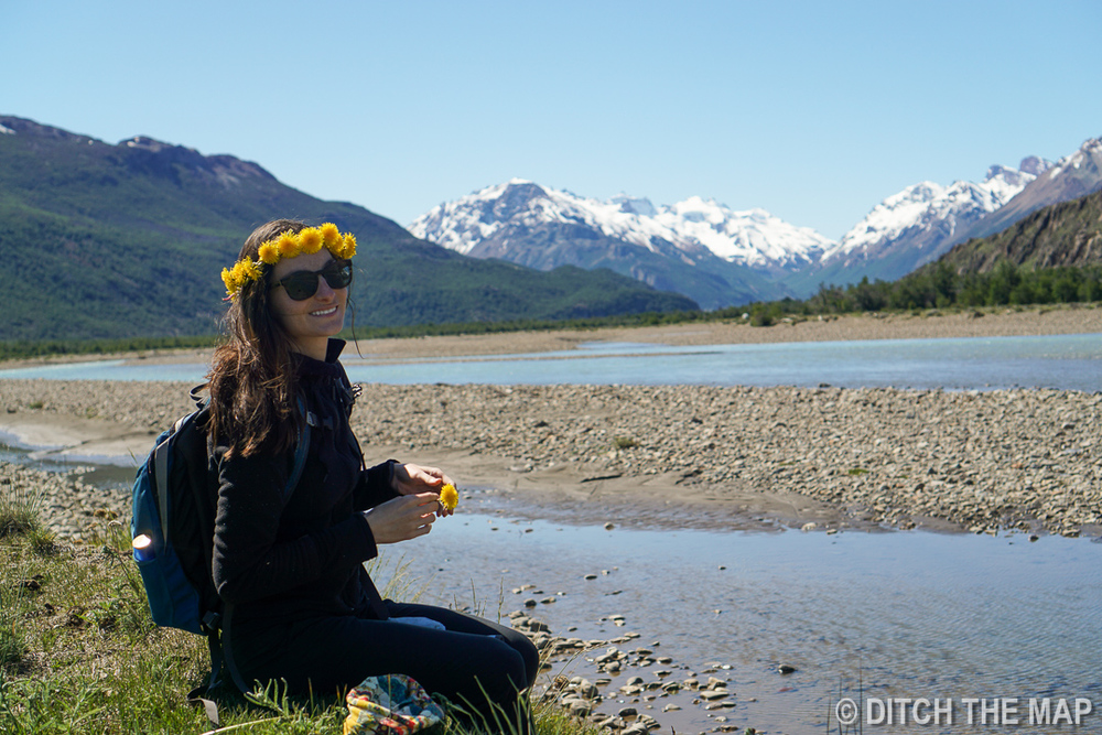The perfect princess poses in Patagonia