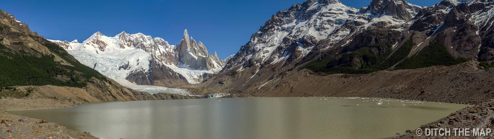 Panoramic view of Cerro Torre in El Chalten, Argentina
