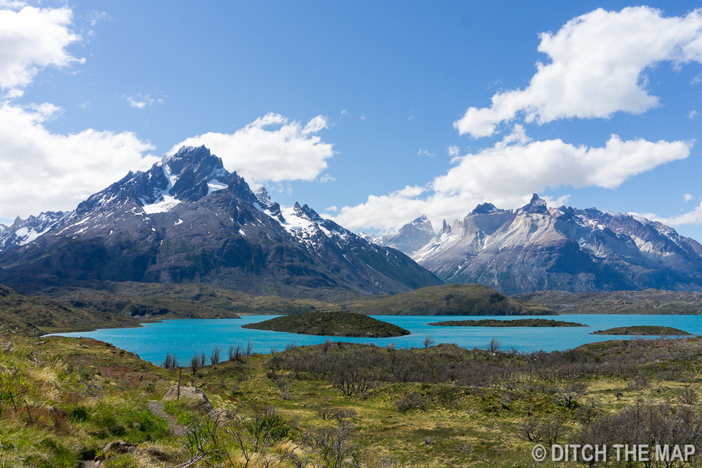 Our first lake view during our W-Trek in Torres del Paine, Chile
